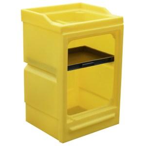 Polyethylene Open Fronted Spill cupboard - 980 x 580 x 640