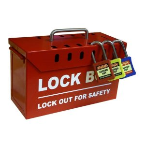 Portable Master Group Lock Box LOK150 - 7 padlock spaces