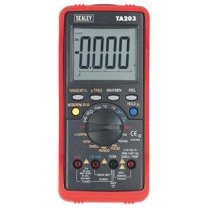 Sealey TA203 Automotive Digital Multimeter 15 Function Bar Graph/p...