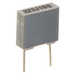 0.1uF 5% 100V 5mm Pitch Faratronic Polyester Film Capacitor