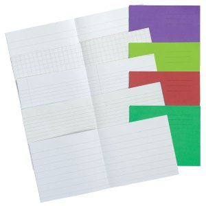 5.25x6.5in Exercise Book 15mm 24 Page Light Red Box of 100