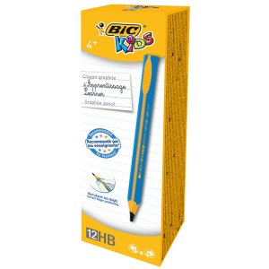 BiC Kids Triangular Graphite Pencil Blue Box of 12