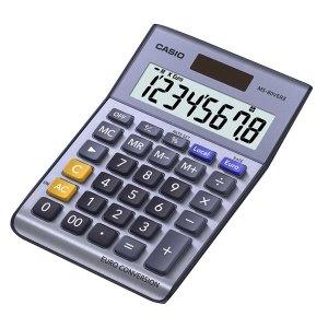 Casio MS-80VERII-SK-UP 8 Digit Tax /Euro Calculator Metal Cover