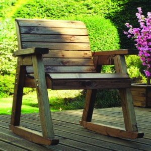 Charles Taylor 2 x Garden Rocker Set With Square Table