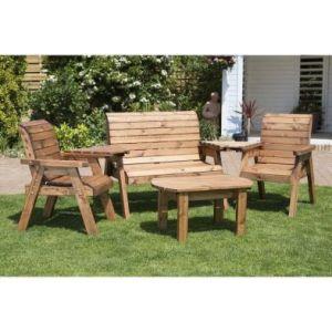 Charles Taylor 4 Seat Garden Furniture Set - Green Cushions