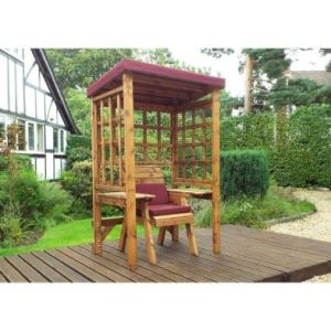 Charles Taylor Wentworth Restful Arbour - Burgundy Cushions