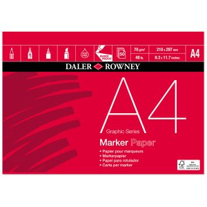 Daler-Rowney Graphic Series Marker Pad A4 70G 50Sh