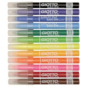 Giotto 494900 Décor Textile Fibre Pens - Pack of 12