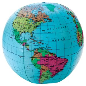 """Learning Resources LER2432 - Inflatable Globe - 12"""""""