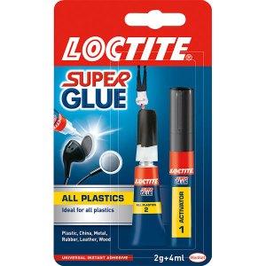 Loctite 1610142 All Plastics Super Glue 2g/4ml