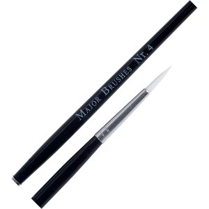 Major Brushes Synthetic Sable Brushes(size 4) - Pack of 10