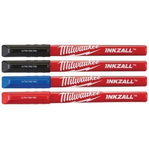 Milwaukee 48223165 INKZALL™ Ultra Fine Tip Pen Assorted Colours (P...