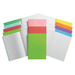Rapid A4 Exercise Book Ruled 8mm & Margin 80 Page Pink Box of 50