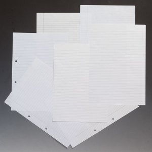 Rapid A4 Paper Ruled 6mm & Margin Punched 75gsm 500 Sheets