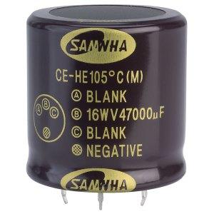 Samwha HE1C479M40040HA 47000uf 16V 105deg He Snap-in Capacitor