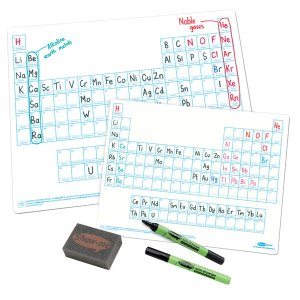 Show-Me A4 White Board Periodic Table Pack of 100 Boards, Pens and...
