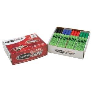 Show-me Dry Wipe Pens Assorted Medium - Pack of 48