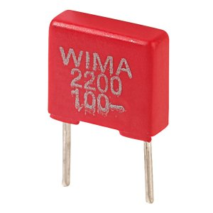 Wima FKS2D012201A00MS FKS2 2200PF ±20% 100V Radial Polyester Capacitor