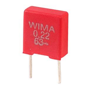 Wima MKS2C032201B00KS MKS2 0.22uF ±10% 63V Radial Polyester Capacitor