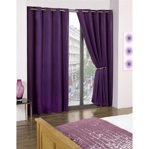 Cali Blackout Contemporary Eyelet Curtains - 90 Inches