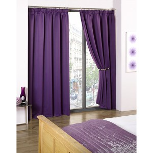 Cali Blackout Contemporary Pencil Pleat Tape Header Curtains - 46 Inches