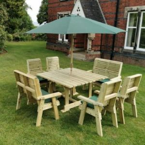 Croft Ergo 8 Seat Bench & Chair Square Table Set
