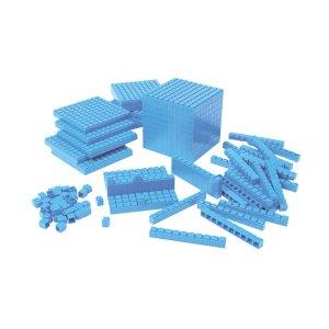 Learning Resources Interlocking Plastic Base Ten Class Set 823pcs