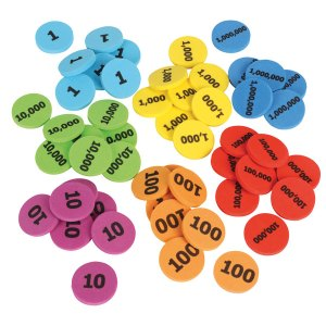 Learning Resources Place Value Disks Set of 280