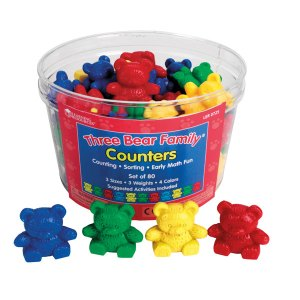 Learning Resources Three Bear Family Counters Set of 80