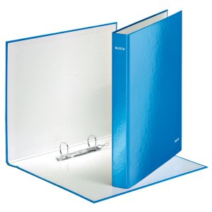 Leitz Ring Binder Laminated WOW A4 2DR 25mm blue