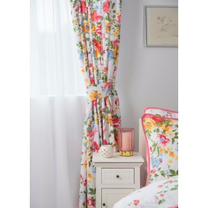 Belledorm Mia Lined Curtains Pair With Tie Backs - 66x72