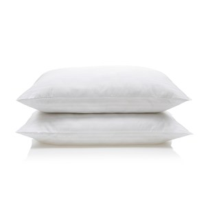 Downland Soft To Touch Satin Stripe Anti Bacterial Pillow (Pair)