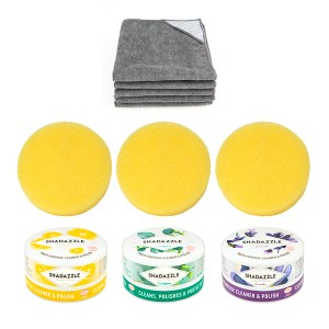 Shadazzle Cleaner & Polisher with Extra Applicators and Pack of Cloths