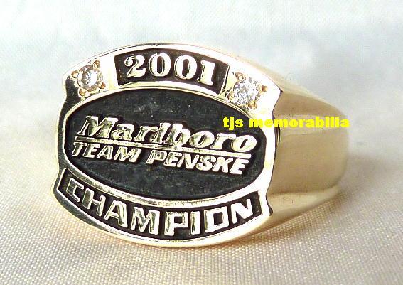 2001 MARLBORO TEAM PENSKE CART FEDEX CHAMPIONSHIP SERIES CHAMPIONSHIP RING