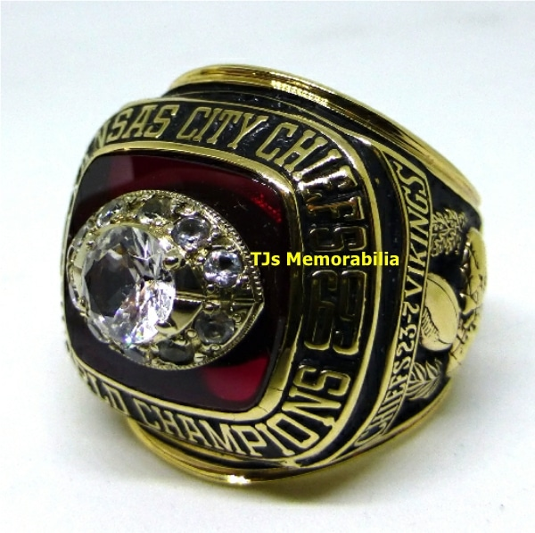 1969 KANSAS CITY KC CHIEFS SUPER BOWL IV CHAMPIONSHIP RING