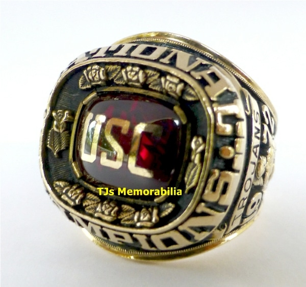 1972 USC TROJANS FOOTBALL NATIONAL CHAMPIONSHIP RING
