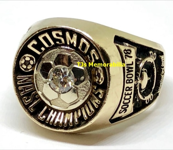 1978 NEW YORK COSMOS NORTH AMERICAN SOCCER LEAGUE (NASL) CHAMPIONS CHAMPIONSHIP RING