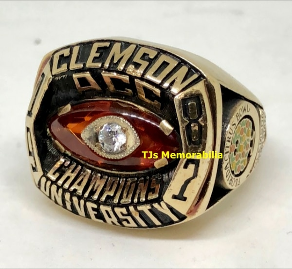 1987 CLEMSON TIGERS ACC CHAMPIONS CHAMPIONSHIP RING