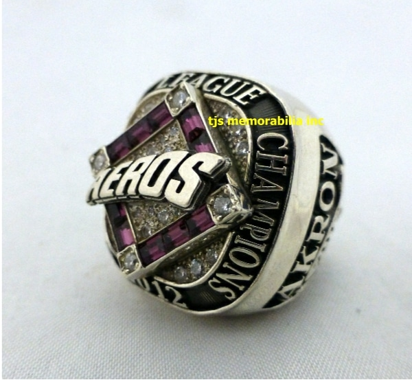 2012 AKRON AEROS EASTERN LEAGUE CHAMPIONSHIP RING
