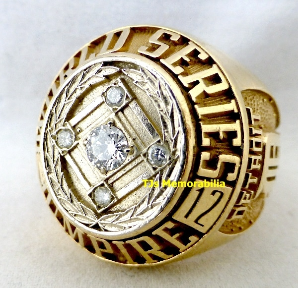 2012 MAJOR LEAGUE BASEBALL UMPIRES WORLD SERIES CHAMPIONSHIP RING