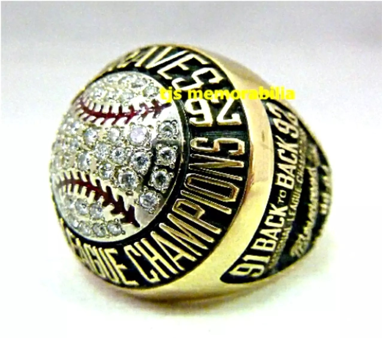 1992 ATLANTA BRAVES NATIONAL LEAGUE CHAMPIONSHIP RING