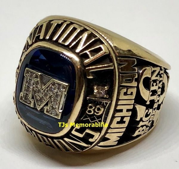 1989 MICHIGAN WOLVERINES NCAA BASKETBALL NATIONAL CHAMPIONSHIP RING