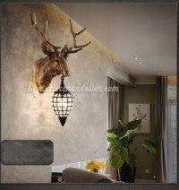 Elk Deer Head Wall Sconces Lamps Pendant Light Decor ...