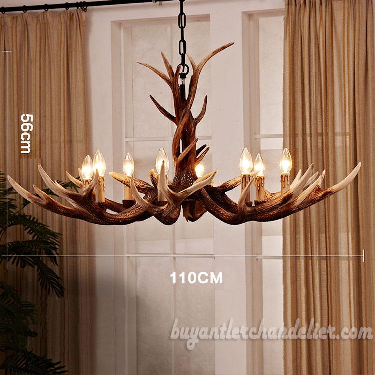 living room lighting fixtures small armchair deluxe 8 cast elk antler chandelier rustic candelabra pendant light decoration 43