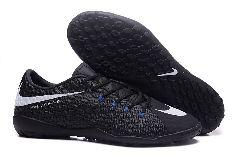 c864f70a1 CORE BLACK WHITE BLUE SOCCER MENS NIKE HYPERVENOM PHELON III TF ...