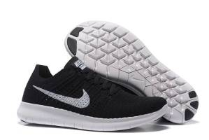 new product a0318 1ba07 NIKE FREE FLYKNIT 5.0 BLACK WHITE RUNNING SHOES