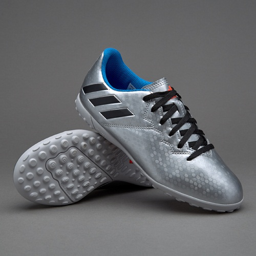 9d3678598 ADIDAS MESSI 16.1 TF - SILVER METALLIC CORE BLACK SHOCK BLUE - Buy best