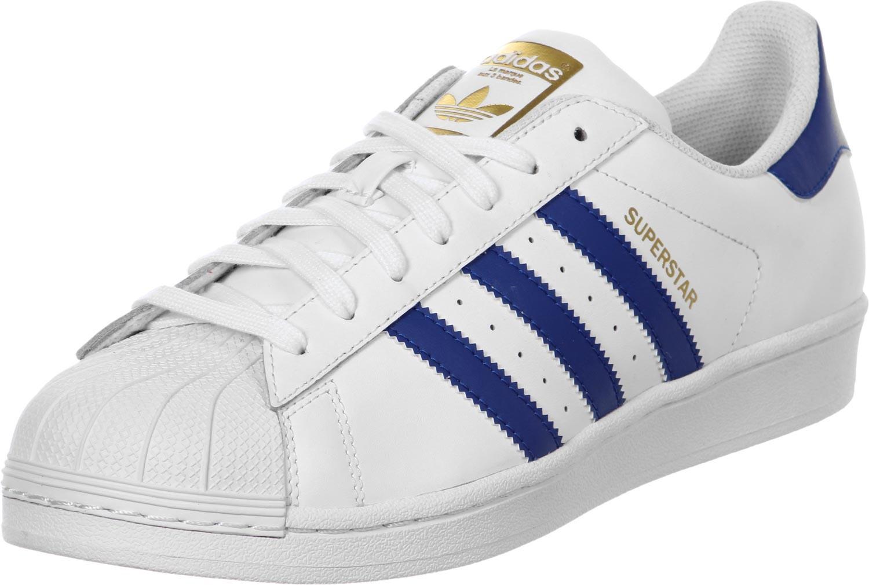 online retailer 293e3 85135 ADIDAS SUPERSTAR FOUNDATION WHITE BLUE - Buy best