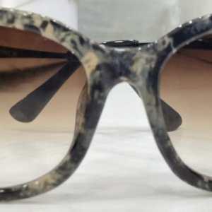 chanel black tiger print brown shades