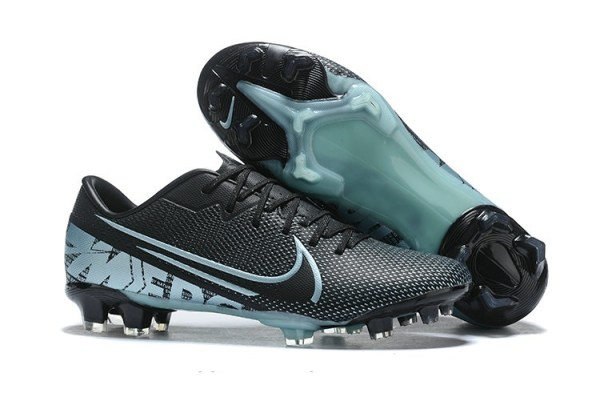 Mercurial Vapor XIII Academy FG Firm Ground Men's Black / Light Blue Soccer Shoes